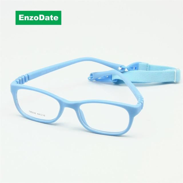 afa63e47d9 Flexible Kids Eyeglasses Frame Size 44 16 TR90 Children Glasses