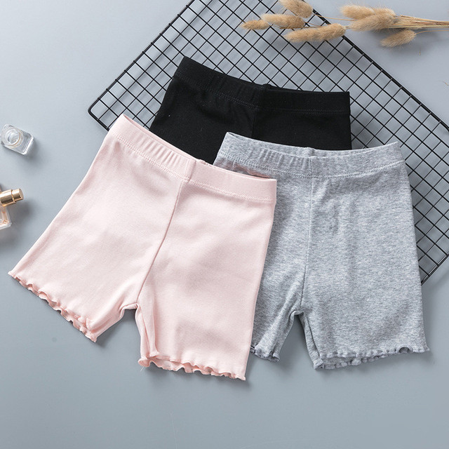 100% Cotton Girls Safety Pants Top Quality Kids Short Pants Underwear Children Summer Cute Shorts Underpants For 3-11 Years Old 3