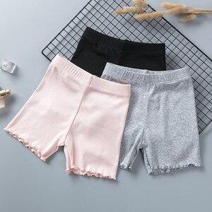 Image 3 - % 100% pamuklu kız güvenlik pantolon en kaliteli çocuklar kısa pantolon iç çamaşırı çocuk yaz sevimli şort külot için 3 11 yıl eski