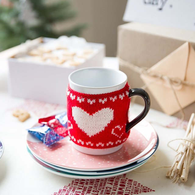 Дома новый год карнавал керамическая кружка чашки , чтобы выпить чашку молока шерсть чашки кофе