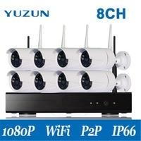 التوصيل والتشغيل 8ch 1080 وعاء hd nvr p2p لاسلكي داخلي ir للرؤية الليلية الأمن كاميرا ip wifi cctv نظام