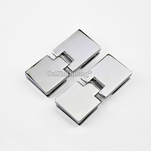 Express Shipping ! High Quality 50PCS Glass Cabinet Hinges Wine / Display Door Clamp