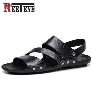 Reetene Hombre Sandalias Calidad Nuevas Alta Playa Zapatillas Verano De 2018 Zapatos Para Cuero tshrQdCx