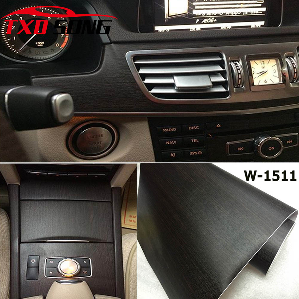 Free Shipping W1511 Wood Grain PVC Sticker Wood Film Styling Wrap Wrapping Interior Decoration Wood Pvc Vinyl Sticker
