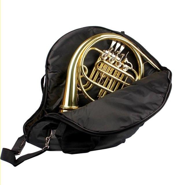 SCYL High quality French Horn Gig Bag Waterproof Oxford Cloth Adjustable Shoulder bags with Pocket Black