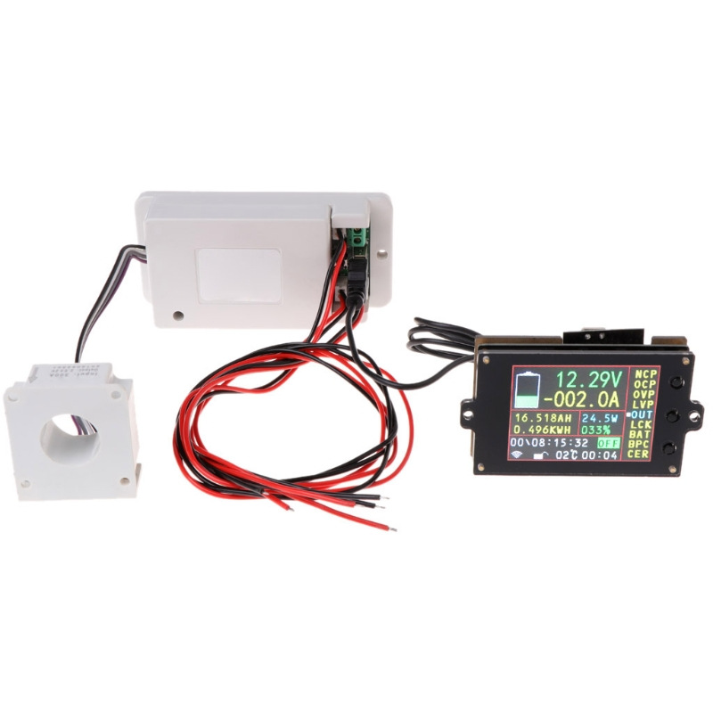 DC 500V 100A 200A 500A Wireless Voltmeter Ammeter Coulometer Battery Power Meter 831F