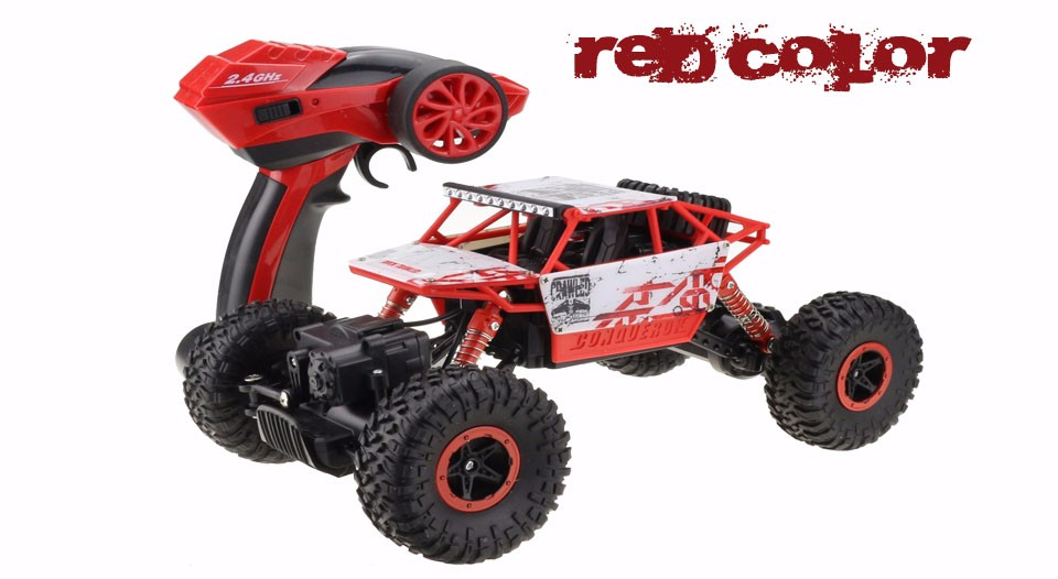 1:18 RC Car 4WD 2.4GHz Climbing Car 4x4 Double Motors Bigfoot Car Remote Control Model Off-Road Vehicle Toy