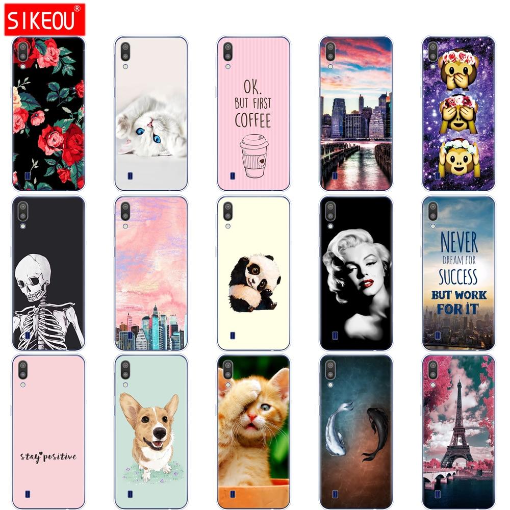 For Samsung Galaxy M10 Cases Galaxy M10 M105f Cover Soft Silicone Phone Back Cover For Samsung Galaxy M10 Case Bumper Coque Cat
