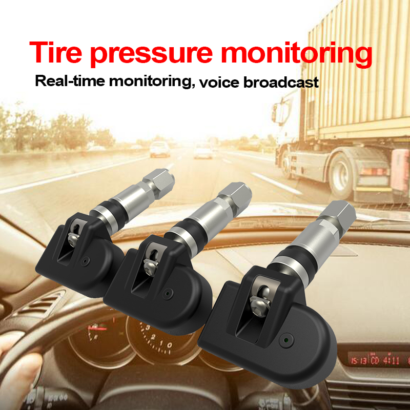 Car font b TPMS b font 4 Sensor for Android IOS Auto Digital Tire Pressure Monitor