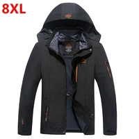 Wiosna i jesień strój super-sized extra duży rozmiar kurtka zużycie, mężczyzna nawozu zwiększyć tłuszczu płaszcz męski 4XL 5XL 6XL 7XL