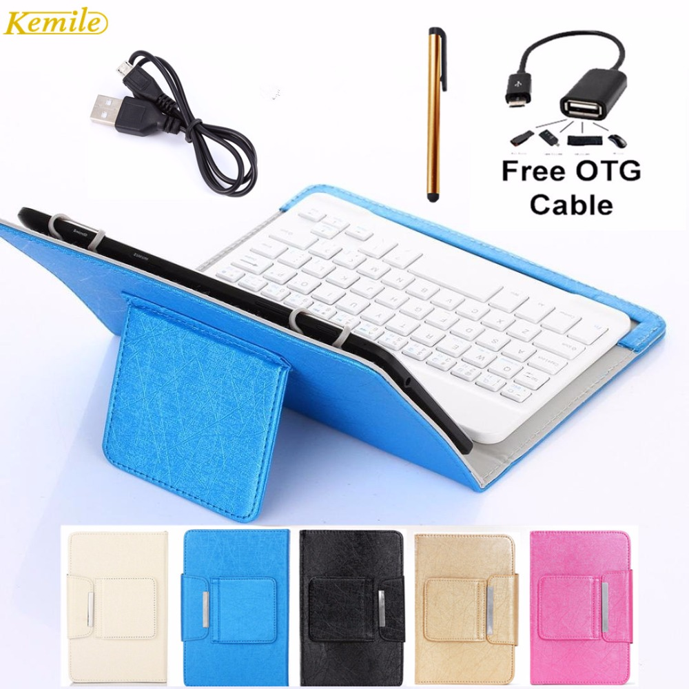цена на Kemile 8inch Portable Leather Case Cover Stand Wireless Bluetooth Keyboard For Cube super & Cube T8  8'' Tablet keypad klavye