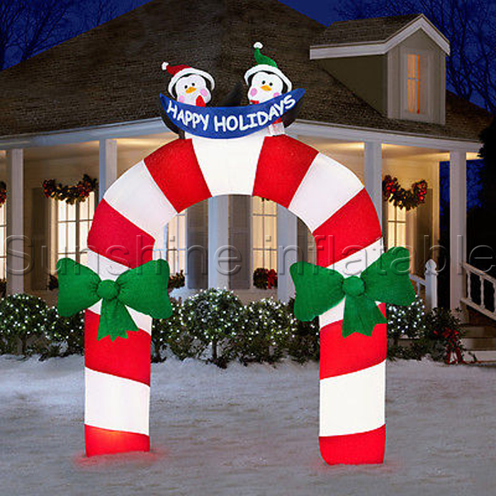 Happy holidays penguin arch christmas decoration ...