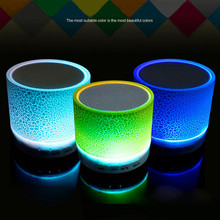 Bluetooth Wireless Speakers Lights Amplifier FM Radio Support USB Micro SD TF Card Portable Audio Player for Phone