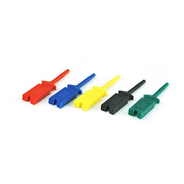 Superbat 30pcs Lots (6 Sets) 5 Colors SMD IC Logic Analyzer Mini Grabber Test Clip Hook Probe Jumper High Quality HOT