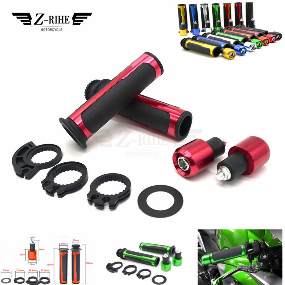 7/8 22mm Motorcycle Hand Grips Handle Rubber Gel Universal for YAMAHA XJ6 N XJ6 DIVERSION XSR 700 ABS XSR 900 ABS 1200