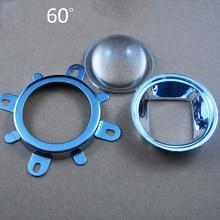 3 шт. 44 мм оптические светодиодные стеклянные линзы 60 градусов+ 50 мм рефлекторный коллиматор+ фиксированный кронштейн для 20 Вт 30 Вт 50 Вт 100 Вт COB чип высокой мощности
