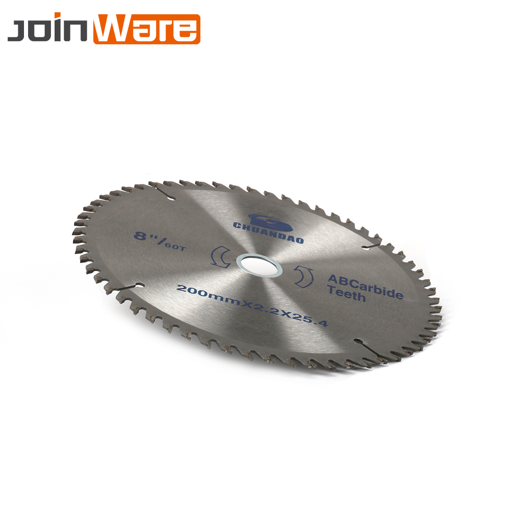 1Pc 200mm 8'' 40T 60T Carbide Circular Saw Blade Cutting Disc Cutter Tool For Wood Aluminum 200mmx2.2x25.4x40T/60T