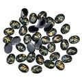 10 pçs/lote 3d unhas decorações de arte studs preto resina broca acrílico DIY acessórios para unhas celular PJ186