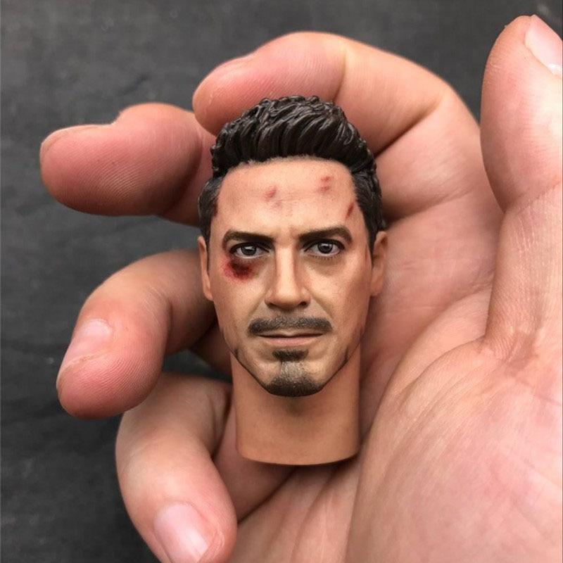 Mnotht Custom 1/6 Scale Iron Man Battle Damaged Version Tony Stark Head Sculpt Fit 12''Figures L30