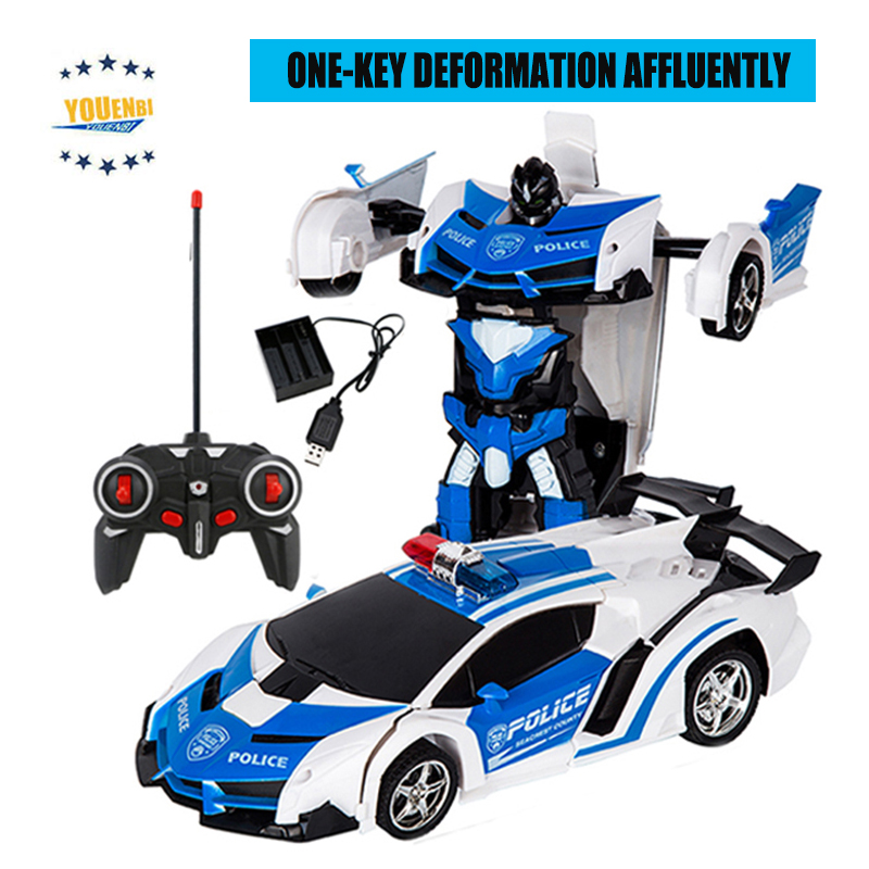 Transformer Car Robots Deformation Robot Remote Control Car with One Button Automatic Operation Realistic Engine Sounds-in RC Cars from Toys & Hobbies