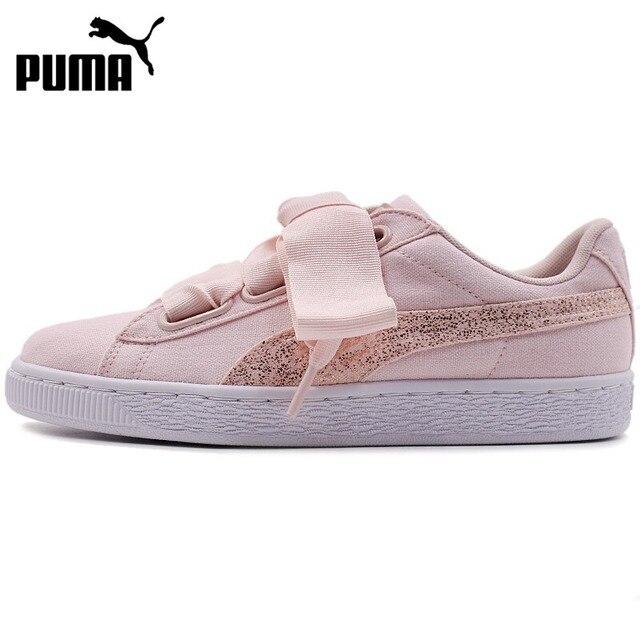fb5ce3bb3e29 Original New Arrival 2018 PUMA Basket Heart Canvas Women s Skateboarding  Shoes Sneakers