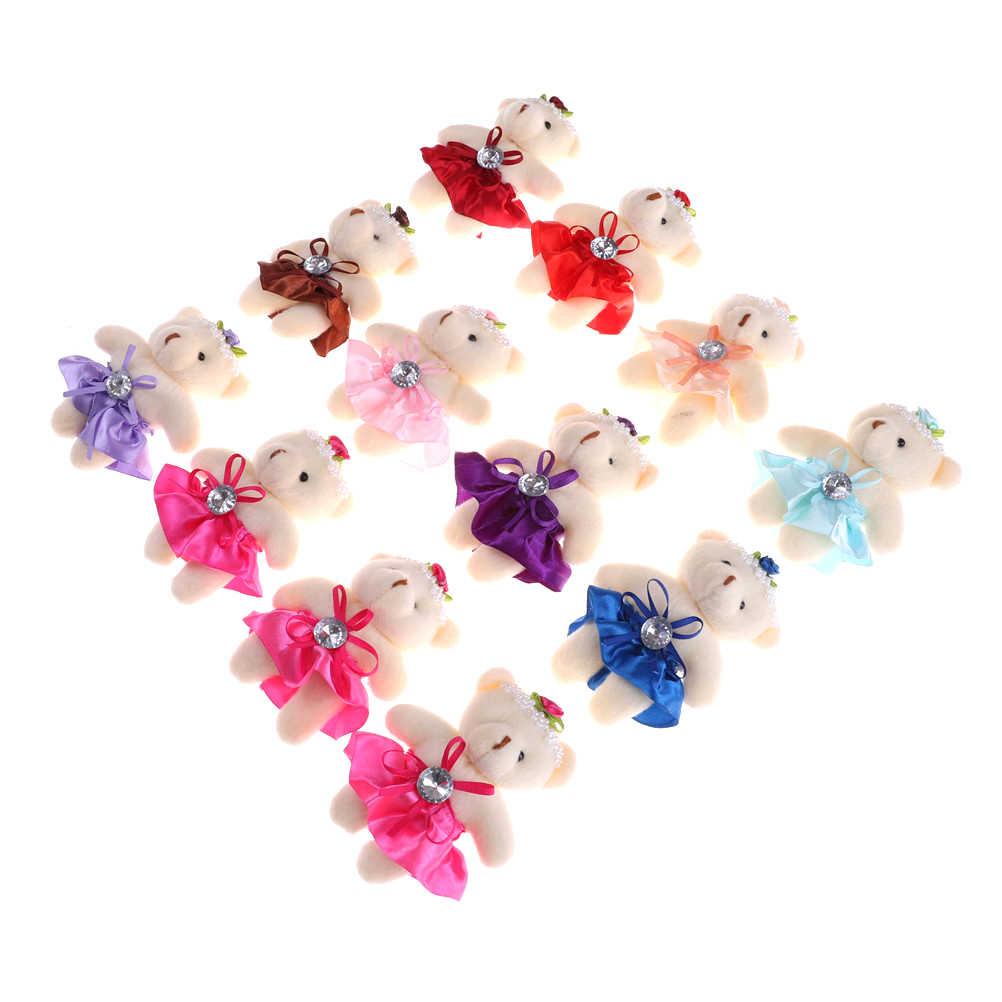 1 шт. милая маленькая голова плюшевые мишки 12 см игрушка мультяшный Букет плюшевый мишка мини мишки плюшевые игрушки Свадебные подарки 12 см