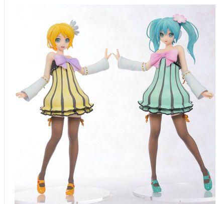 Sexy vocaloid project diva f 2nd v kagamine rin hatsune miku lolita dress sega figure toy doll - Kagamine rin project diva ...