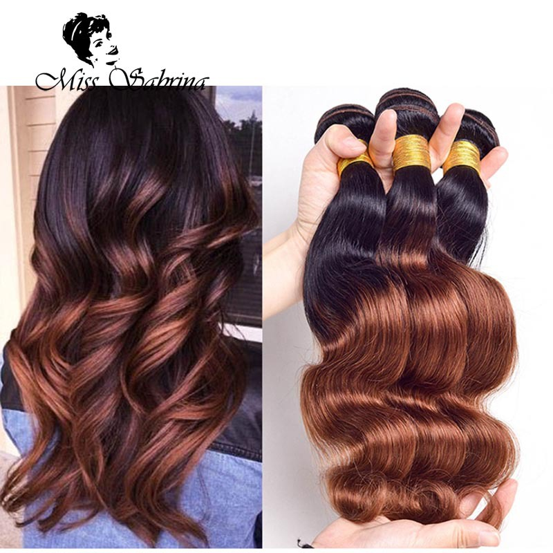 1b33 Color Honey Two Tone Hair Weft Ombre Hair Weave 3 Bundles