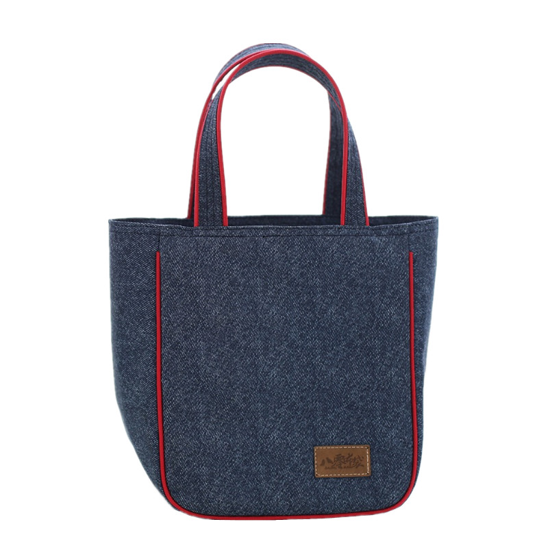 Denim Large Lunch Bag Portable Women Picnic Bento Box Insulated Pack Drink Food Thermal Ice Cooler Leisure Accessories