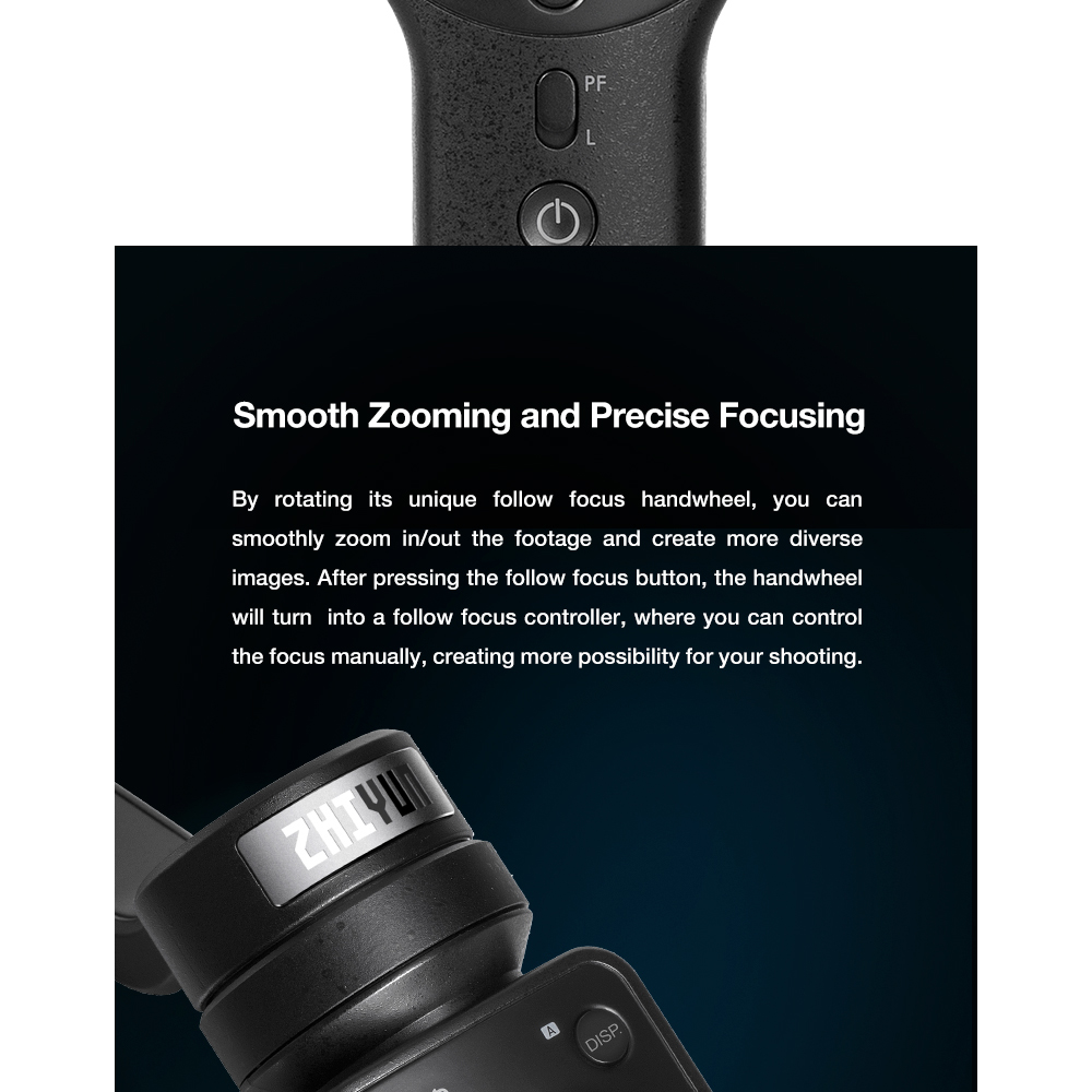 ZHIYUN Official Smooth 4 3-Axis Handheld Smartphone Gimbal Stabilizer VS Smooth Q Model for iPhone X 8Plus 8 7 6S Samsung S9S8S7 3