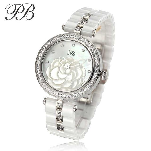 New Lady PB Top Marka Luxury Fashion Watch Kobiety OEM ceramiczne - Zegarki damskie - Zdjęcie 1