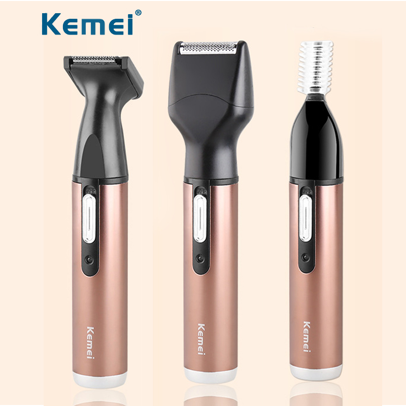 Kemei Electric Nose Trimmer for Men Beard Trimmer Shaver Women Micro Trimmer Eyebrow Hair Removal Rechargeable Barber Razor Kit mini electric shaver for men hair removal machine bikini trimmer men painless women trim eyebrow beard tondeuse cut shaver