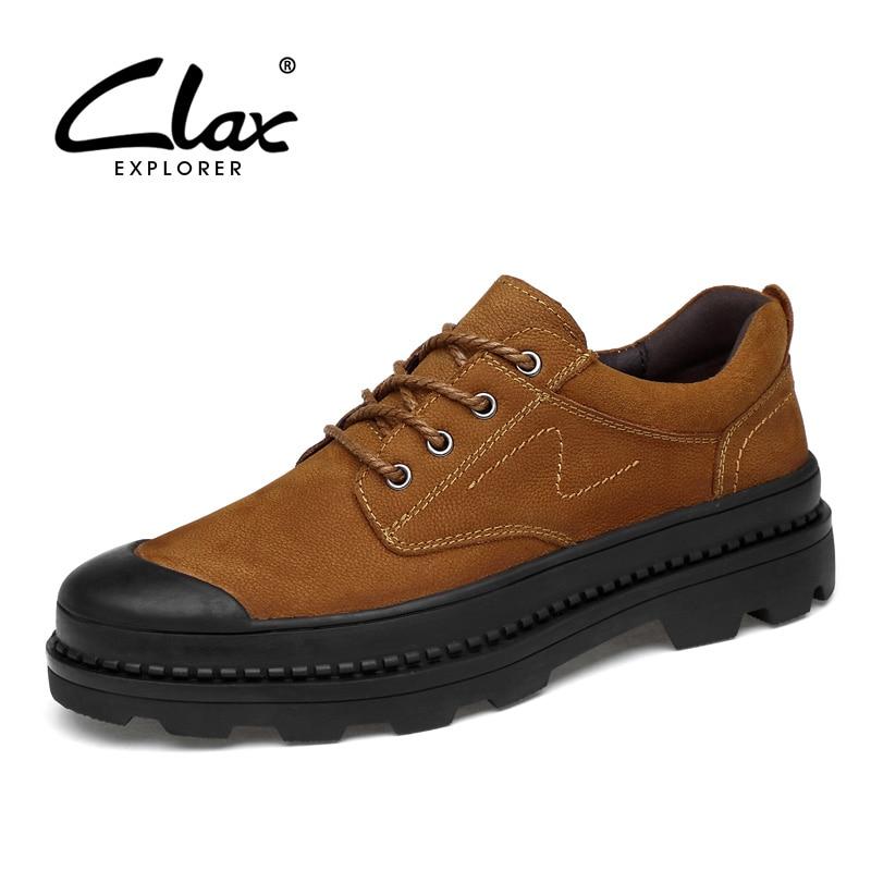 Cuero Clax Calzado brown 38 Mano Zapato A Otoño Caminar 2018 De Primavera 47 Tamaño Grande Auténtico Black Hecho Masculino Zapatos Hombres C8RrxCF