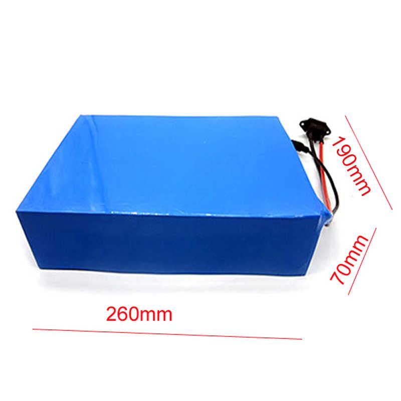 DIY 36 V 50Ah Filion Li ion eBike Paquete de batería para 36 V 1000 W neumático de grasa bicicleta eléctrica con cargador BMS para celda Panasonic