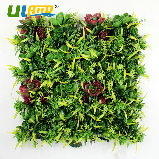 ULAND Artificial Hedge Plastic Plants Fence Outdoor Panels 50x50cm ...