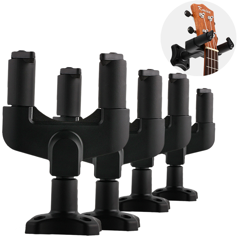 Guitar Hook Hanger Wall Stand for Electric Acoustic Bass Guitar Part Accessories Black 4 Pcs fixmee 50pcs white plastic invisible wall mount photo picture frame nail hook hanger