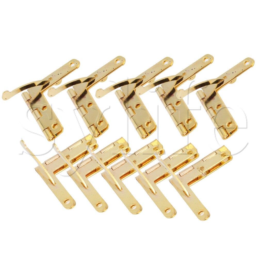 10PCS Mini Small Metal Spring Hinges with Screws 33x30mm For Miniature Furniture bqlzr 10pcs decorative antiquate vintage spring hinges for furniture diy repair page 1