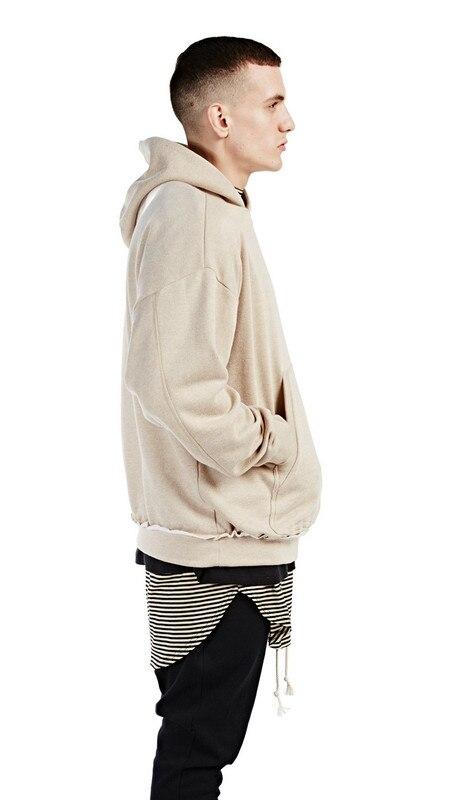 e469b2f0a streetwear khaki BEIGE kanye west yeezy men hoodies pullover oversized hood  hoodie kpop clothes mens urban represent clothing-in Hoodies & Sweatshirts  from ...