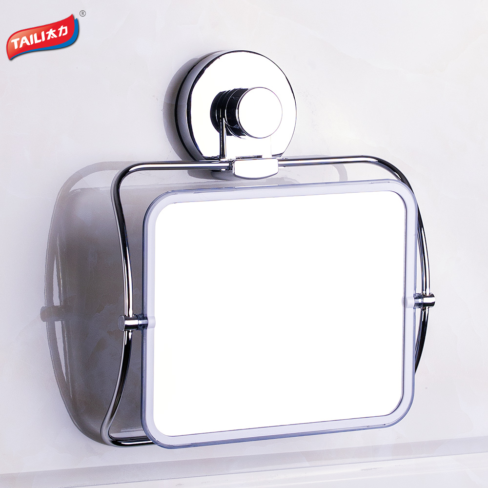 Chrome Bath Mirrors Strong Suction Hook No Drilling Bathroom Accessories Product China Mainland
