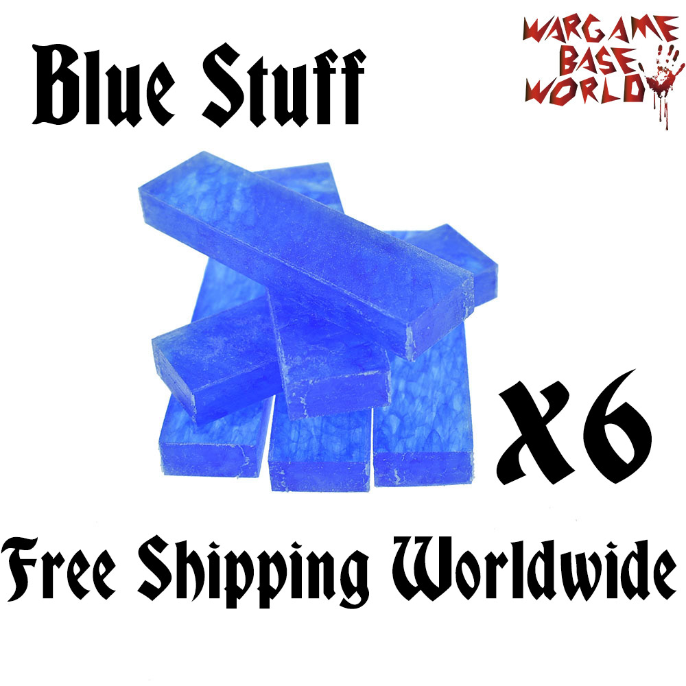 BLUE STUFF - 6 BARS - Make Reusable Plastic Clay for Mold Making