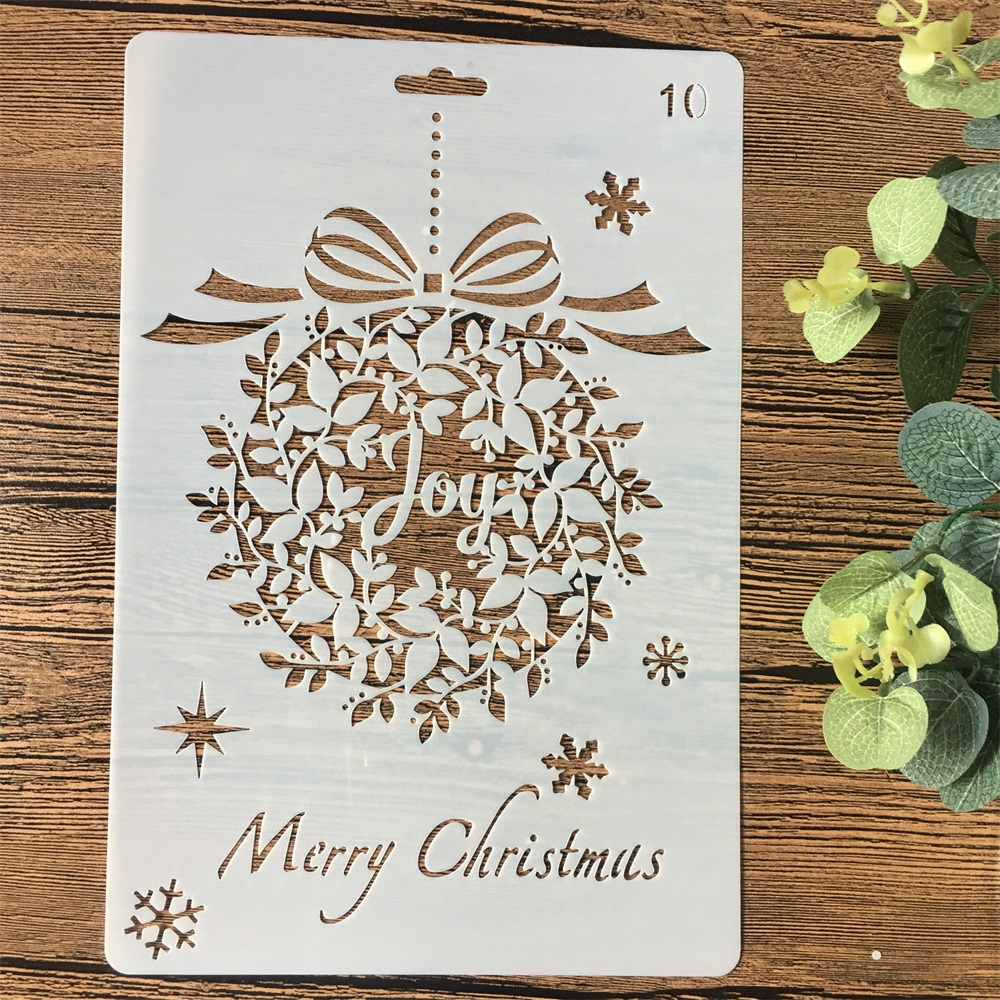 26cm Joy Garland DIY Craft Layering Stencils Wall Painting Scrapbooking Stamping Embossing Album Card Template