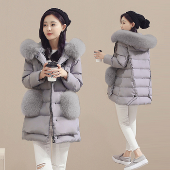 2020 new woman duck down 90 parkas hooded with large genuine real fox fur coat and jacket grey plus size xxxxxl 2xl 3xl 4xl 5xl