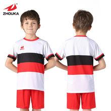 a3fee9a37 Zhouka Kids Football Jerseys Soccer Sets GoalKeeper Training Team Uniform  Sport Kit Dry Shirt Short Sleeves can Customize