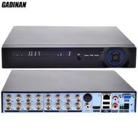 GADINAN 16CH AHD DVR 1080N For AHD CCTV Camera Hybrid:8CH AHD 1080N+8CH IP 960P ONVIF IP NVR Network H.264 Recorder Surveillance
