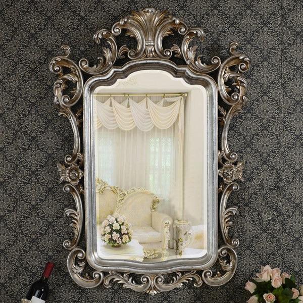 Antiguo europeo refinado espejo de plata de lujo marco de arte de la ...