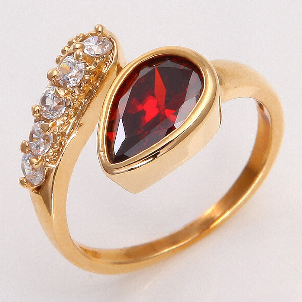 Jewelry Gift 14K Yellow Gold Filled Womens Ruby Ring P213 SZ7.5 ...