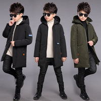 Kids Winter Jackets 2018 Baby Boy Clothes Cotton Padded Down Jackets For Teenagers Big Boys 5 6 7 8 9 10 11 12 13 Year Warm Coat