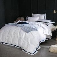 ARNIGU 100% хлопок отель постельных принадлежностей queen Super King size Стёганое Одеяло Обложка + квартира/установлены простыня + подушка случаях сплош