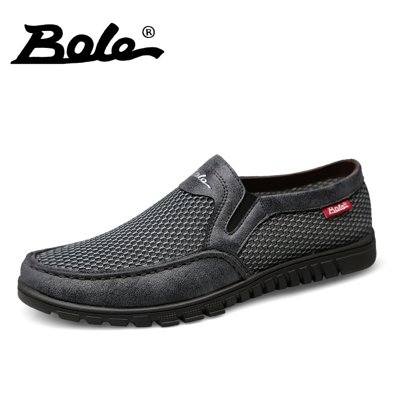Bole Summer Mesh Mesh Mesh Breathable Scarpe Large Taglia 36-47 Uomo Light Weight Casual Scarpe 4f1fe9