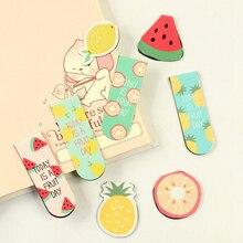 Stationery Marker Bookmarks-Books Fruit-Ice-Cream Magnetic Kawaii Rewarding Office-Supply